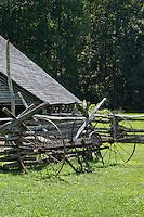 Mountain Farm museum,Oconaluftee,Great Smoky Mountains National Park, North Carolina, USA.