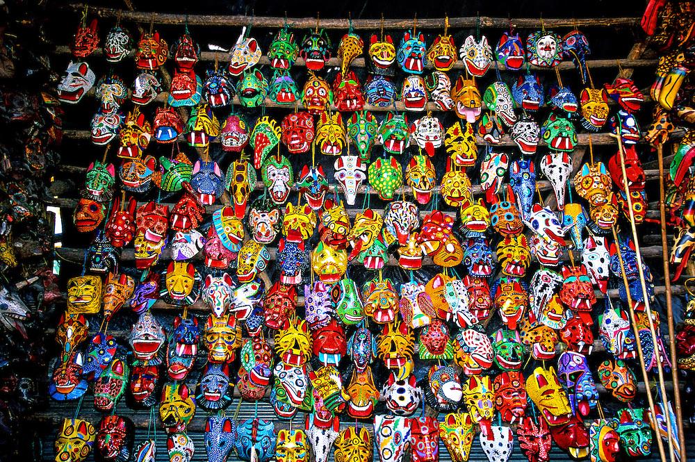 Masks, Market Day, Chichicastenango, Western Highlands, Guatemala
