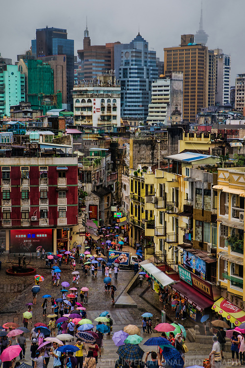 View of Macau from Ruins of St. Paul's Church