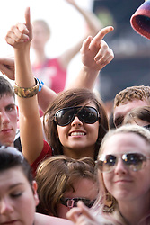 Fans at the main stage. Rockness, Saturday 7th June 2008..Pic © Michael Schofield. All Rights Reserved.
