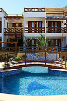 swimming pool of a poussada in the beautiful fisherman village of Jericoacoara in ceara state brazil