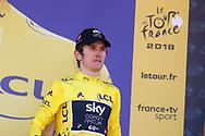 Podium, Geraint Thomas (GBR - Team Sky) winner, yellow jersey during the 105th Tour de France 2018, Stage 11, Alberville - La Rosiere Espace Bernardo (108,5 km) on July 18th, 2018 - Photo Luca Bettini / BettiniPhoto / ProSportsImages / DPPI