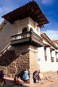 PERU, HIGHLANDS, CUZCO Archbishop's Palace on Inca foundations