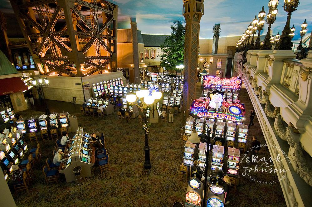Interior of Paris Las Vegas Casino, Las Vegas, Nevada, USA