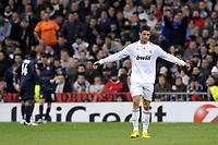 FOOTBALL - UEFA CHAMPIONS LEAGUE 2009/2010 - 1/8 FINAL - 2ND LEG - REAL MADRID v OLYMPIQUE LYONNAIS - 10/03/2010 - PHOTO JEAN MARIE HERVIO / DPPI - DESPAIR CRISTIANO RONALDO (RMA)