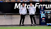 Fotball , 19. september 2021 , Eliteserien  ,   Mjøndalen - Sandefjord<br /> Han Erik Ødegaard og Andreas Tegström , trenere Sandefjord