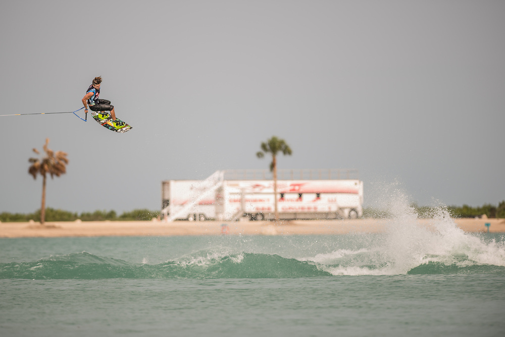 Jimmy Lariche  performs at the RedBull Wake Open in Tampa, Florida on July 4th, 2013.