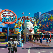 Krustyland Simpsons Ride Attraction In Universal Studios Theme Park, Los Angeles, California
