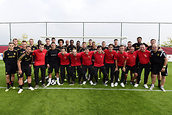 September 4, 2018 - Tubize, Belgique - The players of Belgian National football team during a meet & greet with the Belgian national G-teams en homeless teams (Deaf Devils, Blind Devils, Red Flamingo's, Homeless Devils and Flames before a training session prior to the friendly match against Scotland and qualifying match against Iceland at the Belgian Football center on September 04, 2018 in Tubize, Belgium, 4/09/2018 (Credit Image: © Panoramic via ZUMA Press)