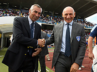 "Empoli (Florence, Italy) Stadium ""Carlo Castellani"" Match day 4 Serie A Campionship Empoli F.C.-S.S.C.Napoli September 23:<br /> Cagni, trainer of Empoli (R) and Reja, trainer of Napoli (L) before the match on September 23, 2007 in Empoli, Italy.<br /> Photo by Gianni Nucci/Insidefoto"