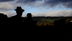 Racegoers in the grandstand during day two of the Showcase at Cheltenham Racecourse