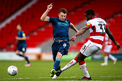 Ollie Clarke of Bristol Rovers challenges Donervon Daniels of Doncaster Rovers - Mandatory by-line: Robbie Stephenson/JMP - 19/10/2019 - FOOTBALL - The Keepmoat Stadium - Doncaster, England - Doncaster Rovers v Bristol Rovers - Sky Bet League One