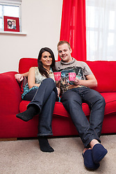 © Licensed to London News Pictures . FILE PICTURE DATED 25 November 2012 . Hulme , Manchester , UK .  L-R SARA ADAMS and BEN ADAMS (both correct) . As reported in the Manchester Evening News on 26th November 2012, newlywed Ben Adams (24) accompanied single best friend Lee Robinson (26) on a speed dating trip to Paris , to lend moral support . Even though he wore his wedding ring and made it clear he was spoken for , Ben still ended up being voted the most wanted man by the women on the trip and he won a holiday to Majorca to share with the woman of his choice . Although they've only recently returned from their honeymoon in Egypt , the couple are now travelling to Majorca . Photo credit : Joel Goodman/LNP