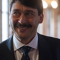 Janos Ader before he takes the oath of office as President of Hungary in Budapest, Hungary on May 02, 2012. ATTILA VOLGYI