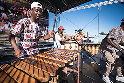 """14 May 2017, Windhoek, Namibia: Marimba band in action. The local Namibian hosts offered an """"Ada dâ"""", """"Let's Celebrate"""", after thousands of Lutherans and guests had gathered for a festival of worship, witness and song and word and sacrament in Sam Nujoma Stadium on Sunday, May 14th to mark commemoration of the 500th Anniversary of the Lutheran Reformation in Windhoek, Namibia"""
