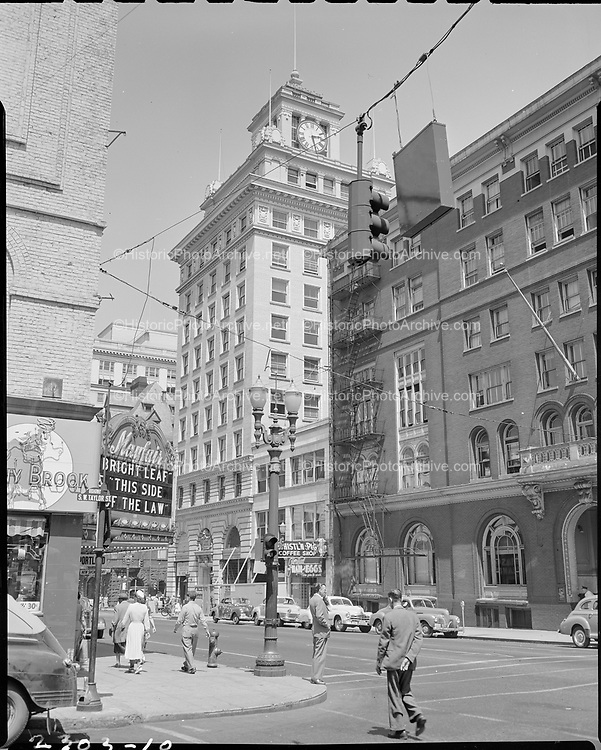 """""""Jackson Tower, Broadway from Taylor"""" July 1, 1950 (YMCA on right)"""
