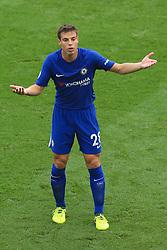 23rd September 2017 - Premier League - Stoke City v Chelsea - Cesar Azpilicueta of Chelsea looks confused - Photo: Simon Stacpoole / Offside.