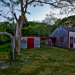 One of the houses on the Biddle Property in Wellfleet, Massachusetts. Cape Cod National Seacshore. HDR.