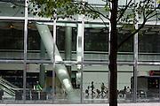 Exterior architecture on ground floor of Heathrow airport's terminal 5.