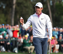April 8, 2018 - Augusta, GA, USA - Rory Mcllroy after he finished his round during the final round of the Masters at Augusta National Golf Club on Sunday, April 8, 2018, in Augusta, Ga. (Credit Image: © Jason Getz/TNS via ZUMA Wire)