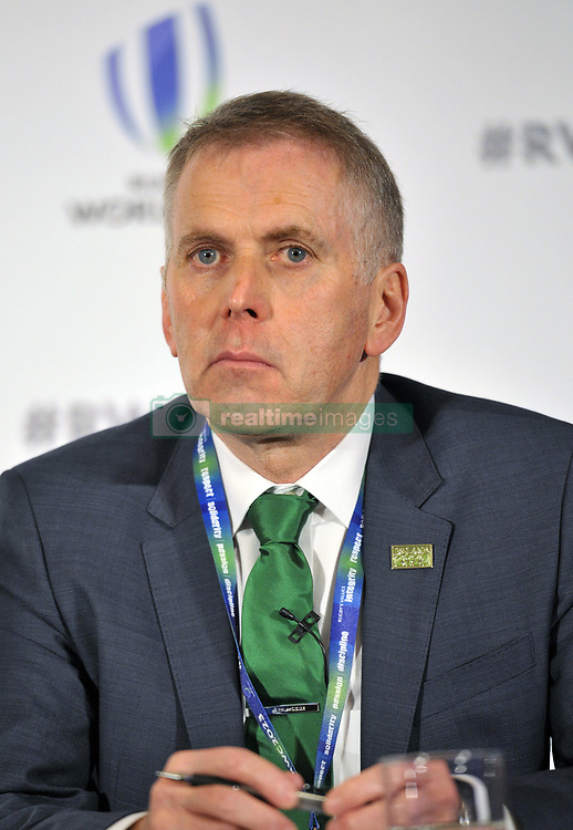 David Sterling, Head of the Northern Ireland Civil Service, during the 2023 Rugby World Cup host candidates presentations at the Royal Garden Hotel in London, where Ireland are bidding to host the event against France and South Africa.