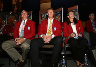 28 August 2006: 2006 Hall of Fame player inductees (from left): Al Trost, Alexi Lalas, and Carla Overbeck. The National Soccer Hall of Fame Induction Ceremony was held at the National Soccer Hall of Fame in Oneonta, New York.