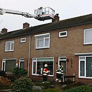 NLD/Huizen/20100120 - Schoorsteenbrand Opperweg Huizen