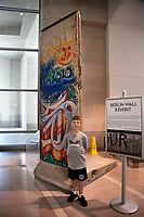 The Berlin Wall Exhibit in the Ronald Reagan Building, Washington DC still almost deserted with the ongoing covid pandemic photo by Catherine Brown