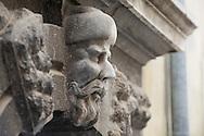 Sculpture of an Uskok's head above a door, Senj, Croatia © Rudolf Abraham