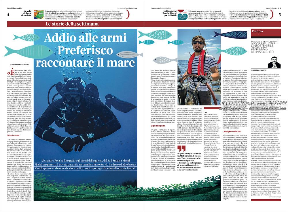Interview about Tales of the Sea | MED[iterranean] Photo Project on Corriere delle Buone Notizie / Corriere della Sera (ITA) - 04.12.2018