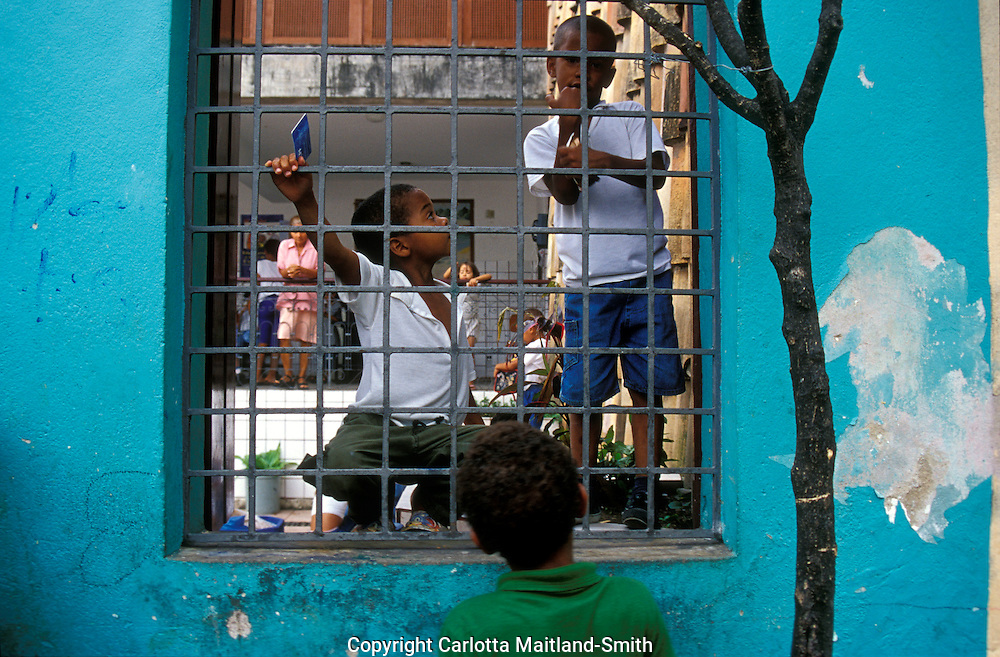 Children at Pelourinho school san Salvador Brazil.