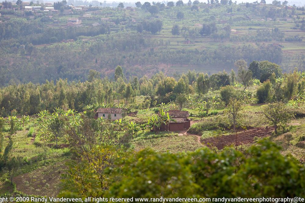 Photo Randy Vanderveen.Rwanda.A view of a rural area in southern Rwanda.
