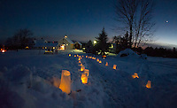 A beautiful evening under the stars at Prescott Farm for the Lantern Festival on Saturday night.   (Karen Bobotas/for the Laconia Daily Sun)