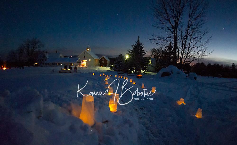 A beautiful evening under the stars at Prescott Farm for the Lantern Festival on Saturday night.   (Karen Bobotas/for the Laconia Daily Sun)