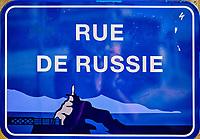 France, Pyrénées-Atlantiques (64), Pays Basque, Biarritz, rue de Russie // France, Pyrénées-Atlantiques (64), Basque Country, Biarritz, Russia street