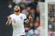 GOAL 1-0. Raheem Sterling of England celebrates after scoring a goal during the UEFA European 2020 Qualifier match between England and Czech Republic at Wembley Stadium, London, England on 22 March 2019.