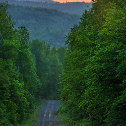 The Katahdin Iron Works Road near Silver Lake in Piscataquis County, Maine. Near Greenville.
