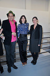 Left to right, GERRY FOX, BELLA FREUD and SADIE COLES at the Hopes & Dreams Private View - a film installation by Gerry Fox for The Hoping Foundation held at Sadie Coles Gallery, 4 New Burlington Place, London