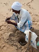 Sri Lanka, Ampara District, Arugam Bay, Pottuvil a small fishing village and popular surfing resort. Local fisherman
