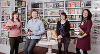 Website portrait of Booka Bookshop as part of a project to photograph the shop, activities and variety of stock for their New Website. They have now been voted as the best independent bookshop in the UK.