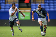 Tommy Spurr (Preston North End) runs down the wing with the ball during the Pre-Season Friendly match between Bolton Wanderers and Preston North End at the Macron Stadium, Bolton, England on 30 July 2016. Photo by Mark P Doherty.