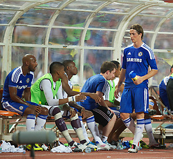 24.07.2011, Rajamangala National Stadium, Bangkok, THA, Chelsea FC Asia Tour, Thailand All Star XI vs Chelsea FC, im Bild // Chelsea's Fernando Torres looks dejected after being substituted after another goalless display against a Thailand All Star XI at the Rajamangala National Stadium in Bangkok on the club's preseason Asia Tour, EXPA Pictures © 2011, PhotoCredit: EXPA/ Propaganda/ D. Rawcliffe *** ATTENTION *** UK OUT!