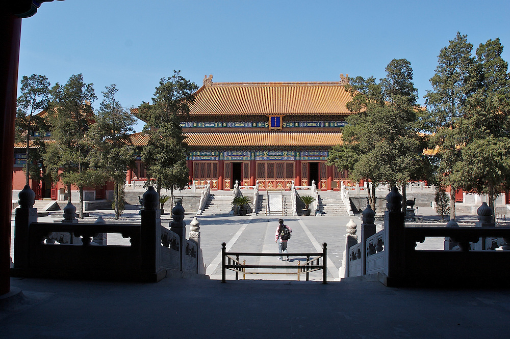 The Temple of Ancient Monarchs in Xicheng District Beijing, China is a location for former emperors to be worshiped.