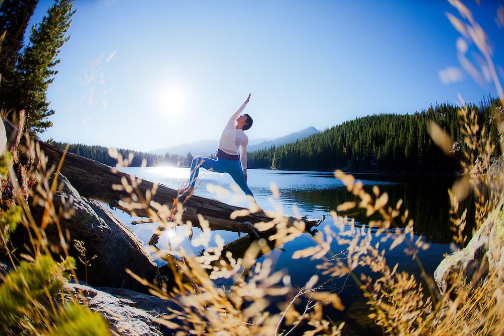 Yuki Tsuji-Hoening at Bear Lake, Estes Park, COLORADO