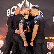 NLD/Rotterdam/20200224 - Stare down Boxing Influencers 2020, Dave Roelvink vs. Joey Bravo