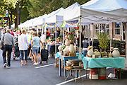 The Farmers Market along Main Street in downtown Greenville, South Carolina.