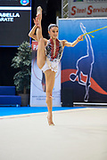 Isabella Poles from Virtus Gallarate team during the Italian Rhythmic Gymnastics Championship in Padova, 25 November 2017.
