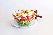 Israeli Salad Tomato and Cucumber with grated cheese