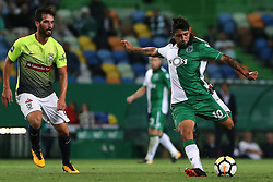 September 19, 2017 - Lisbon, Lisbon, Portugal - Sportings forward Bryan Ruiz from Costa Rica (R) and Maritimo's midfielder Joao Gamboa from Portugal (L) during the Portuguese Cup 2017/18 match between Sporting CP v CS Maritimo, at Alvalade Stadium in Lisbon on September 19, 2017. (Credit Image: © Dpi/NurPhoto via ZUMA Press)
