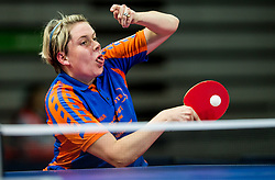Van Zon Kelly of Netherlands plays final match during Day 4 of SPINT 2018 - World Para Table Tennis Championships, on October 20, 2018, in Arena Zlatorog, Celje, Slovenia. Photo by Vid Ponikvar / Sportida